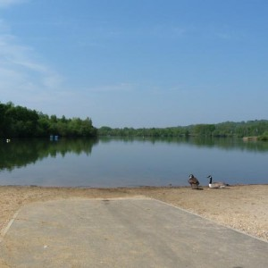 Horseshoe Lake near Blackbushe Park, Yateley, Hampshire