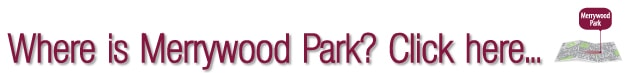 Location map for Merrywood Park, Box Hill, Surrey