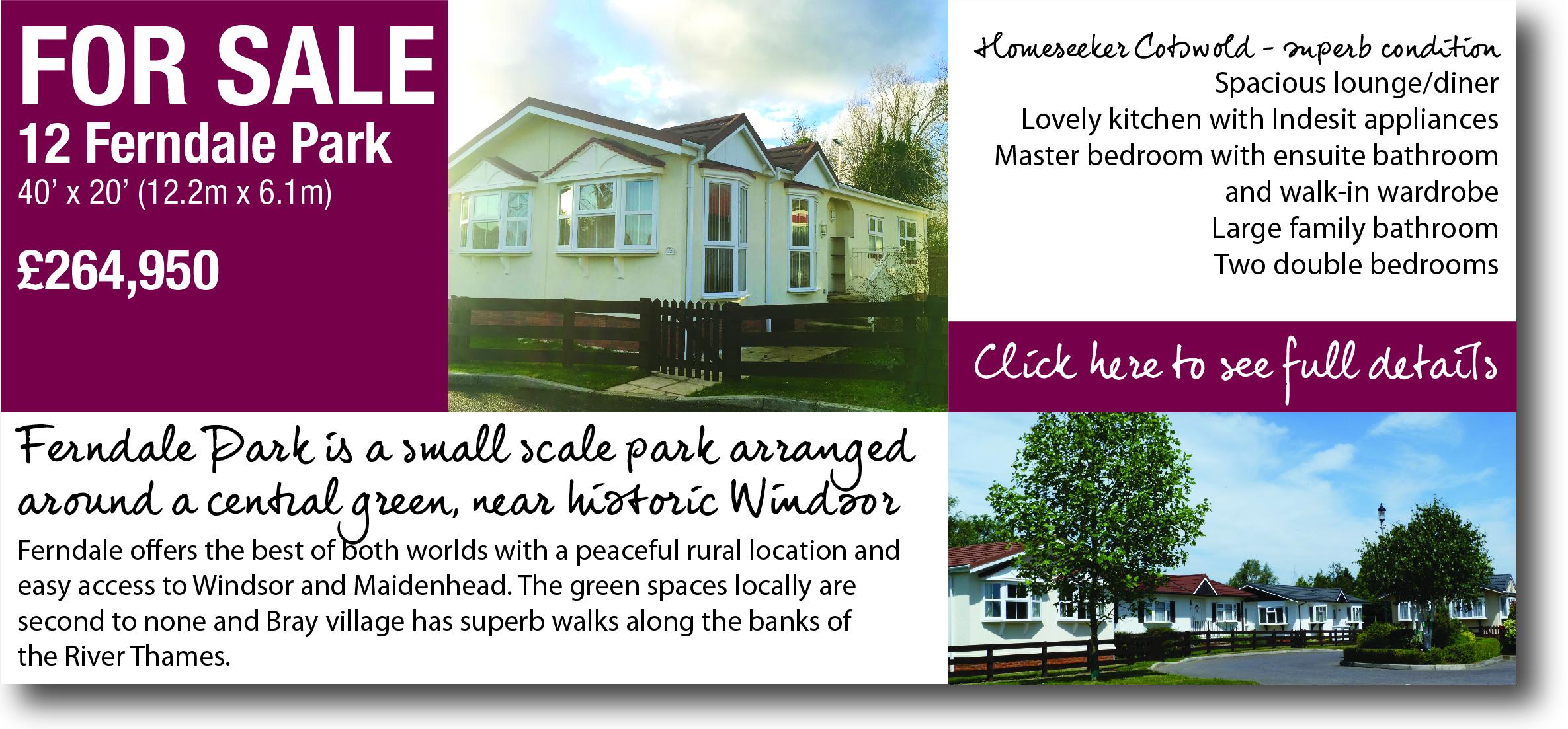 Park home for sale windsor berkshire
