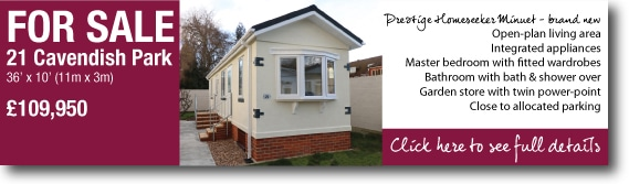 Mobile home for sale near Camberley