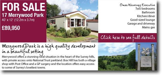 17 Merrywood Park Box Hill Surrey mobile home for sale